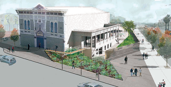 Bayview Opera House; birds-eye view rendering