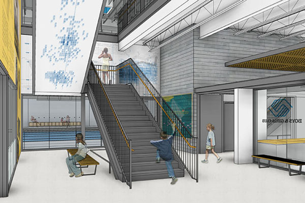 Boys and Girls Club interior render
